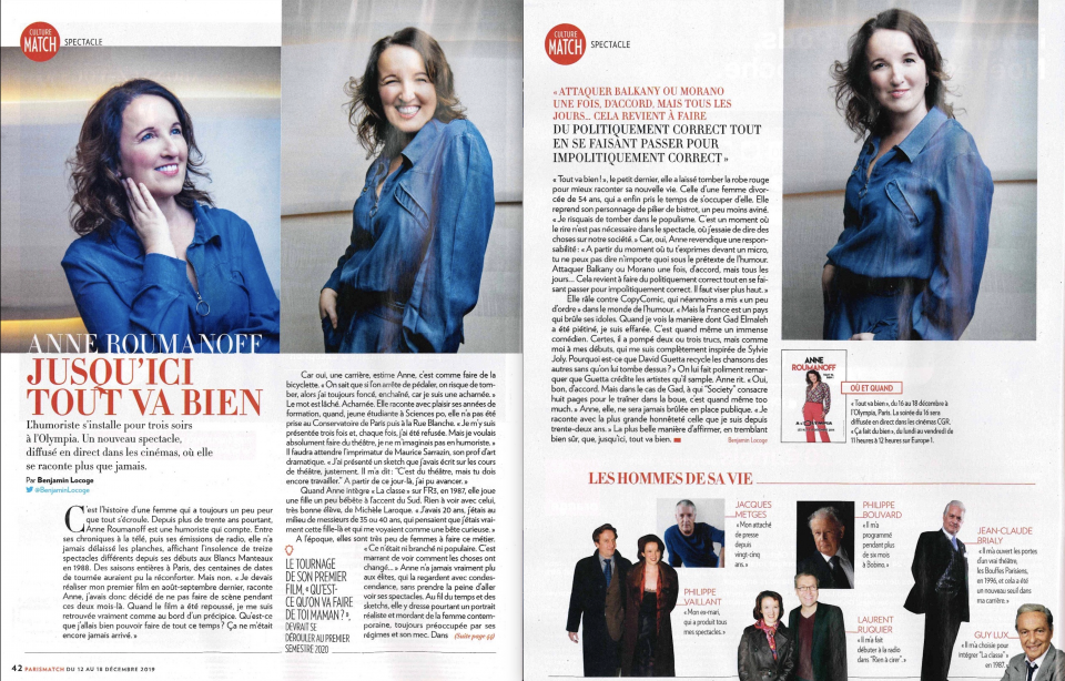 Double page dans Paris Match !